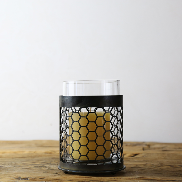 "5"" Metal Candle Sleeve Honeycomb"